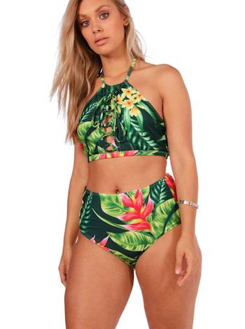 BOOHOO Tropical bikini set so šnurovaním Sara foto