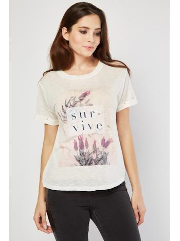 VELVET ROSE Top so sloganom foto